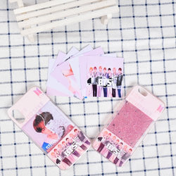 BTS phone case with cards and liquid glitter - SD-style-shop