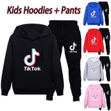TikTok Kids Hoodie + Pants Tracksuit Set - SD-style-shop
