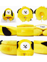 BT21 Travel Neck Pillow with hood - SD-style-shop