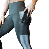 High Waist fitness Leggings silver details - SD-style-shop