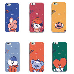 BT21 winter iPhone case - SD-style-shop