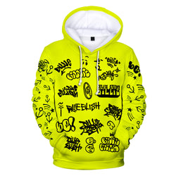 Billie Eilish World tour Graffiti Doodles Hoodie - SD-style-shop