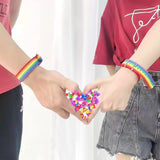 Rainbow Strap Bracelet with buckle - SD-style-shop