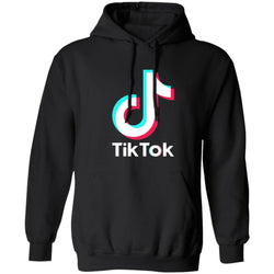 TikTok logo Hoodie - pink, blue, black, green, grey - SD-style-shop