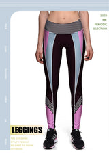 Pink and black High Waist Fitness Leggings - SD-style-shop