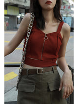 Knitted CropTop with zipper - SD-style-shop