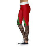 Santa pants - christmas leggings, leopard - SD-style-shop