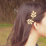 Gold hairpin with Olive branche leaves - SD-style-shop
