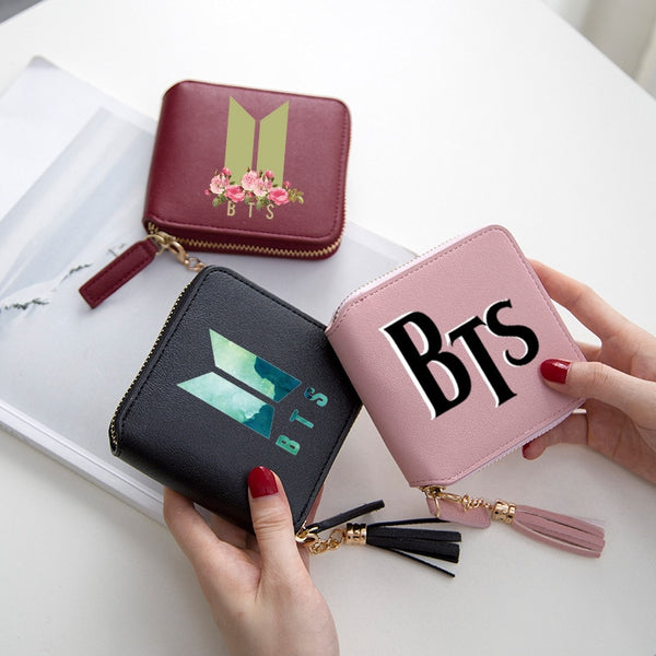 BTS zipper wallet with tassel - SD-style-shop