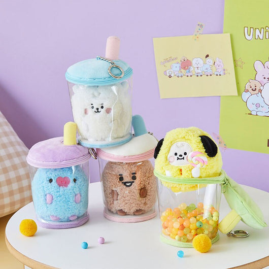 BT21 Bubble Tea plushie and cup - SD-style-shop