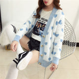 Korean Style Kawaii Heart Cardigan - SD-style-shop