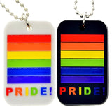 Lgbt Gay Pride Rainbow Tag Necklace - SD-style-shop