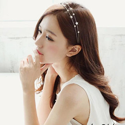 Sweet Silver Hairbands with flowers or stars - SD-style-shop