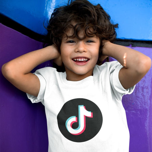TikTok kids t-shirt with round TikTok logo - SD-style-shop