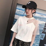 Harajuku tshirt with mesh inserts - SD-style-shop