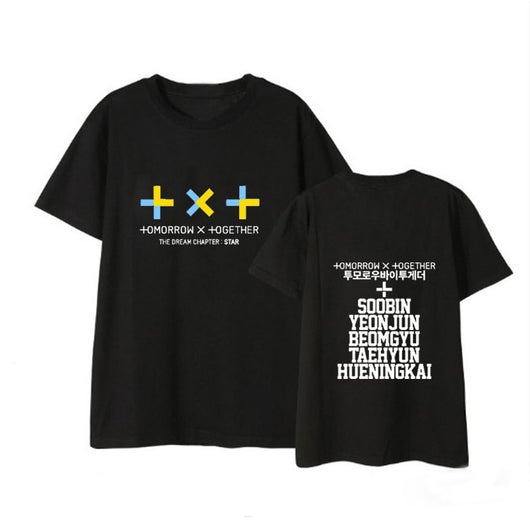 TXT Tshirt Tomorrow x Together with member names - SD-style-shop