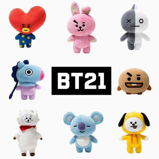 Bt21 Pluche Pillow doll TATA VAN COOKY CHIMMY SHOOKY KOYA RJ MANG - SD-style-shop