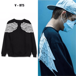 BTS V Sweater with Wings - SD-style-shop