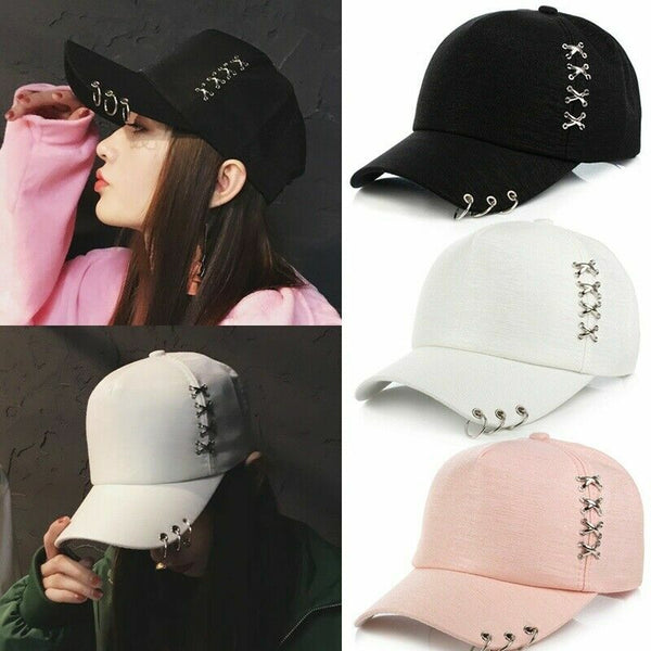 Korean style Baseball Cap with Rings - SD-style-shop