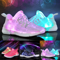 Glowing Optic Fiber LED Shoes - SD-style-shop