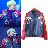 BTS Suga Embroidery loose baseball jacket - SD-style-shop