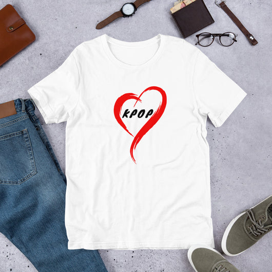 Kpop shirt with heart, Kpop T-shirt,  Unisex k-pop T-Shirt - SD-style-shop