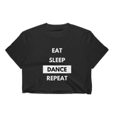 Eat sleep dance repeat Black Crop Top - SD-style-shop