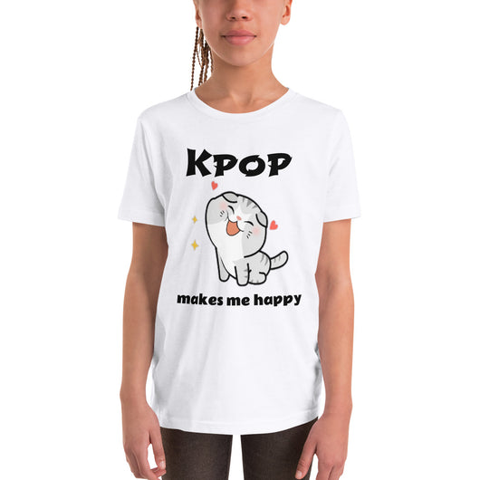 Kpop makes me happy T-shirt for kids - SD-style-shop