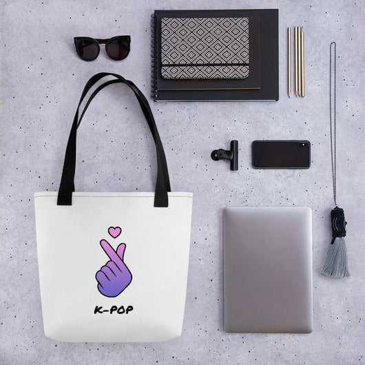 Kpop fingerheart Tote bag - SD-style-shop