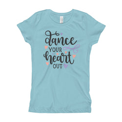 Dance T-shirt for girls. dance your heart out Tee, children dance tshirt - SD-style-shop