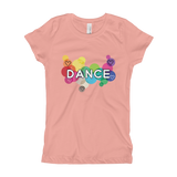 Girl's Dance T-Shirt with rainbow colors - SD-style-shop