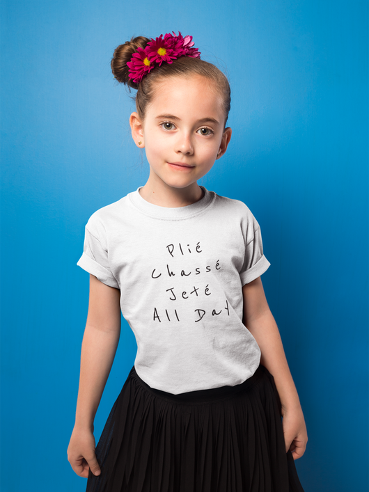 Plié, Chassé, Jeté, All day. Kids Softstyle Tee - SD-style-shop