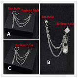 Kpop earring  with pendant and chain - SD-style-shop