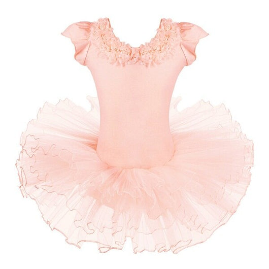 Peach Roses Ballet leotard with tutu - SD-style-shop