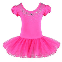 Hot Pink Sparkle Ballet leotard with tutu - SD-style-shop