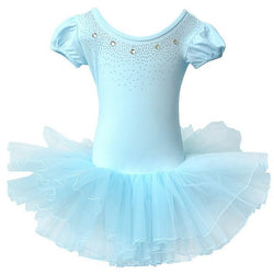 Blue Sparkle Ballet leotard with tutu - SD-style-shop