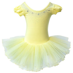 Yellow Sparkle Ballet leotard with tutu - SD-style-shop