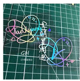 BTS Hologram Laser Sticker - SD-style-shop