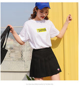 Kawaii A-Line Mini Pleated Skirt with Strawberry Embroidery - SD-style-shop
