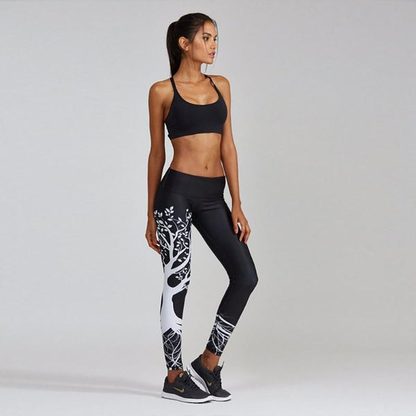 Workout Leggings with Tree Print - SD-style-shop