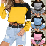 Cropped sweatshirt colorblock - SD-style-shop