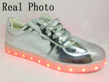 Silver and Gold Led light Sneakers - SD-style-shop