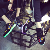 Black Led shoes with Paint splatter print - SD-style-shop