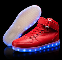 Red High top Led Shoes - SD-style-shop