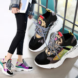 Chunky platform Sneakers multi color - SD-style-shop