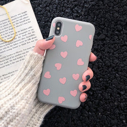 Phone cover for iPhone with hearts - SD-style-shop