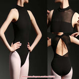 Ballet Dance Leotard open back mesh - SD-style-shop