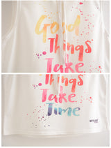 Good things take time Cropped hoodie - SD-style-shop