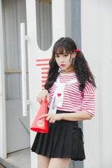 Bow Tie Kawaii Pleated mini Skirt - SD-style-shop