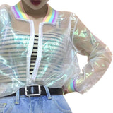 Transparant rainbow laser Jacket - SD-style-shop